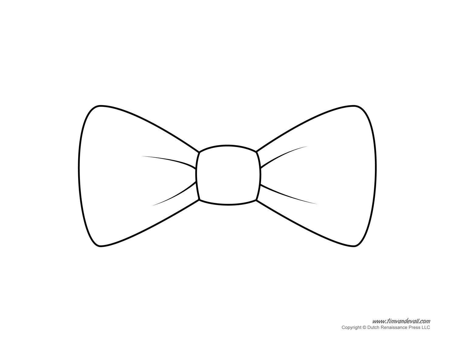 Bow Tie Drawing | Paper Bow Tie Templates |Bow Tie Printables - Free Printable Tie Template