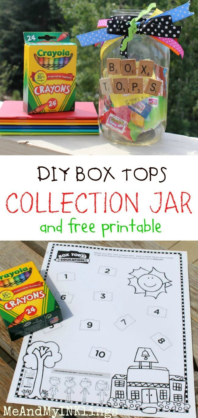 Box Tops For Education - Back To School Jar And Free Printable - Free Printable Box Tops For Education