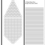 Brick Stitch Bead Patterns Journal: 12 Bead Base Row Blank Round   Free Printable Native American Beading Patterns