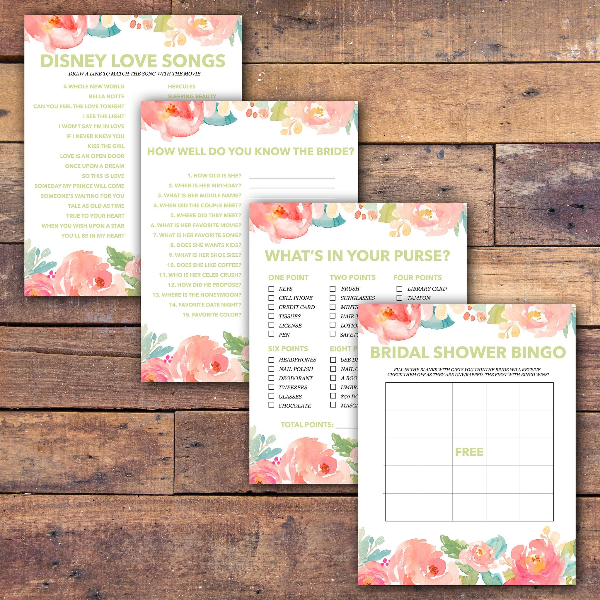 Bridal Shower Games Free Printable - - Samantha Jean Photograhy - Free Printable Wedding Shower Games