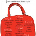 Bridal Shower What's In Your Purse Game (Plus A Free Printable) | A   Free Printable What's In Your Purse Game