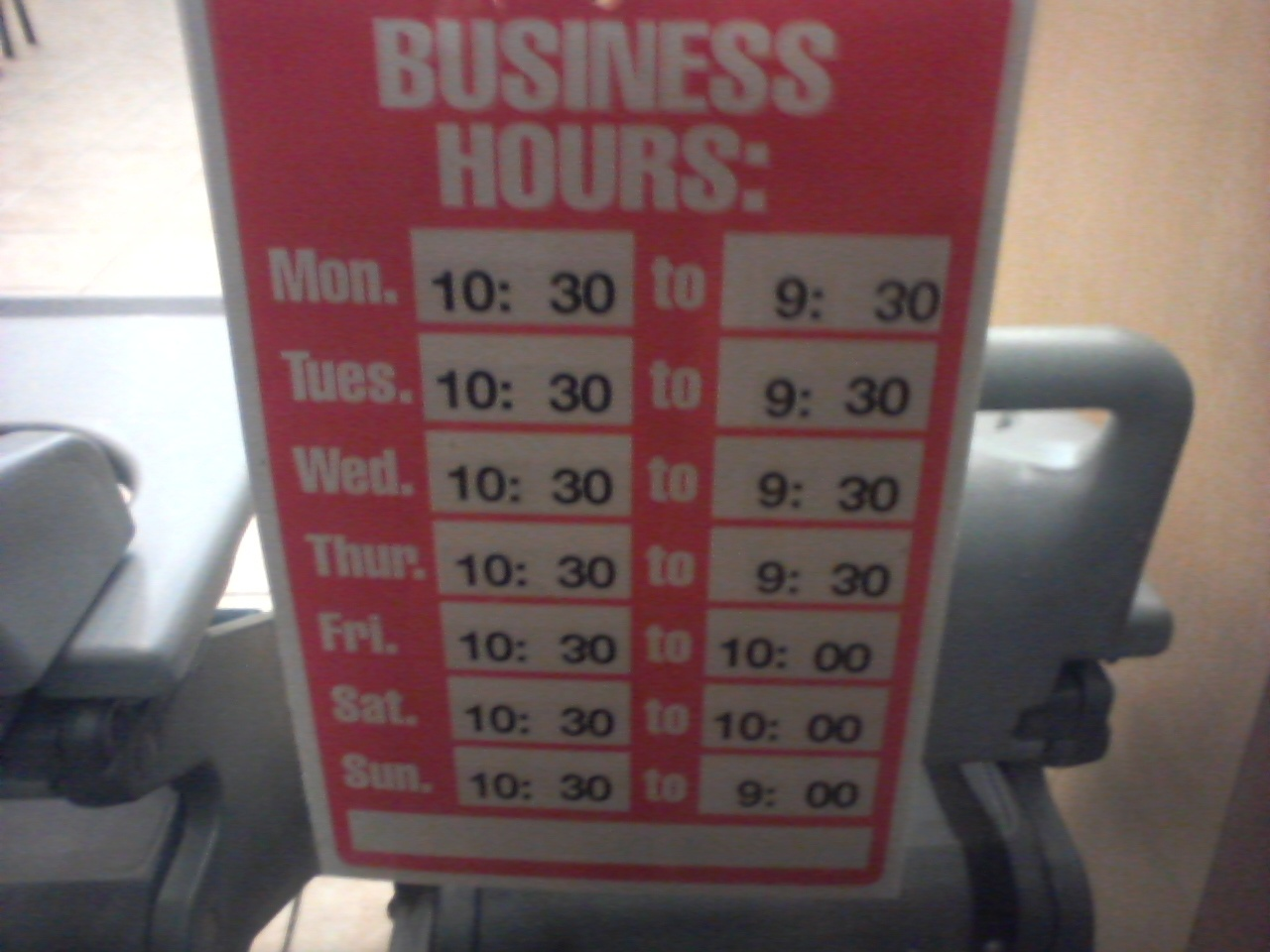 Business Hours - Wikipedia - Free Printable Business Hours Sign