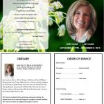 Butterfly Memorial Program | Memorials | Funeral Memorial, Memorial   Free Printable Memorial Card Template