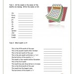 Calendar And Months Worksheet   Free Esl Printable Worksheets Made   My Spelling Dictionary Printable Free
