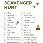 Camping Scavenger Hunt Printable   Paper Trail Design   Free Printable Scavenger Hunt