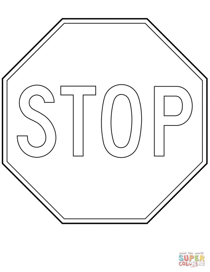 Free Printable Stop Sign To Color