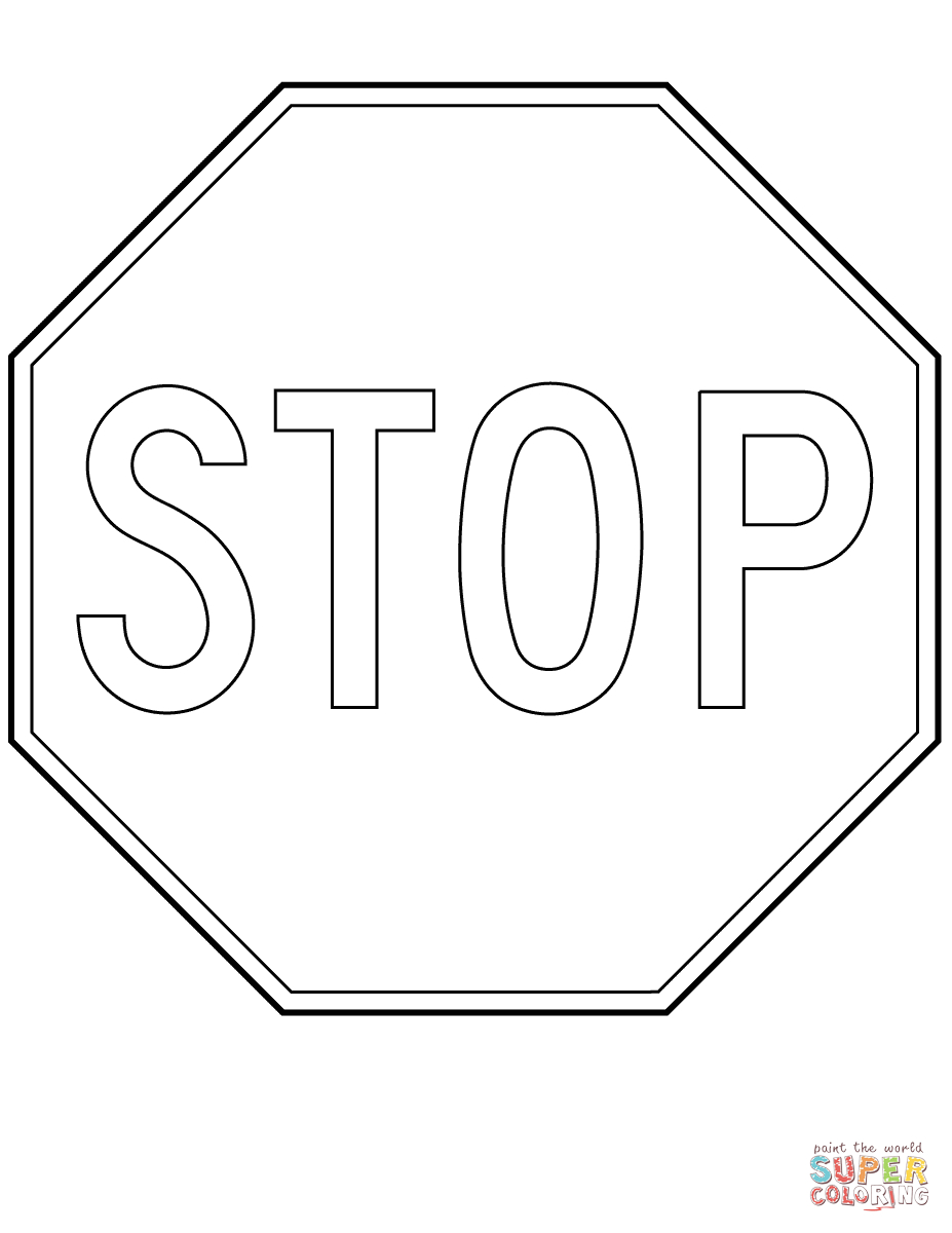 Canada Stop Sign Coloring Page | Free Printable Coloring Pages - Free Printable Stop Sign To Color