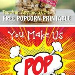 Caramel Popcorn | Recipe | Gift Ideas | Teacher Appreciation   Free Popcorn Teacher Appreciation Printable