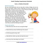 Carlo Or Kindness Rewarded Second Grade Reading Worksheets | Reading   Free Printable Reading Comprehension Worksheets Grade 5