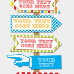 Carnival Directional Sign Templates – New Sizes! | Circus/carnival   Free Printable Carnival Decorations