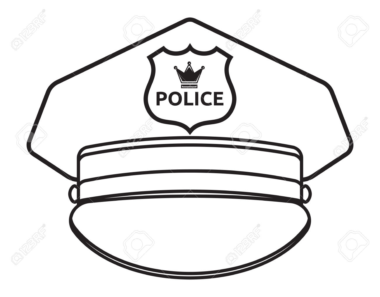 Cartoon Police Hat Clipart | Free Download Best Cartoon Police Hat - Free Printable Police Hat