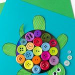 Cd And Button Turtle Craft | Preschool Pond Theme | Turtle Crafts   Free Printable Button Templates