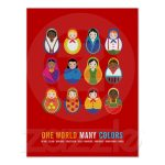Celebrate Culture & Diversity One World Many Color Poster | Zazzle   Free Printable Multicultural Posters