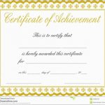 Certificate Of Achievement Template Free Lovely Free Customizable   Free Customizable Printable Certificates Of Achievement