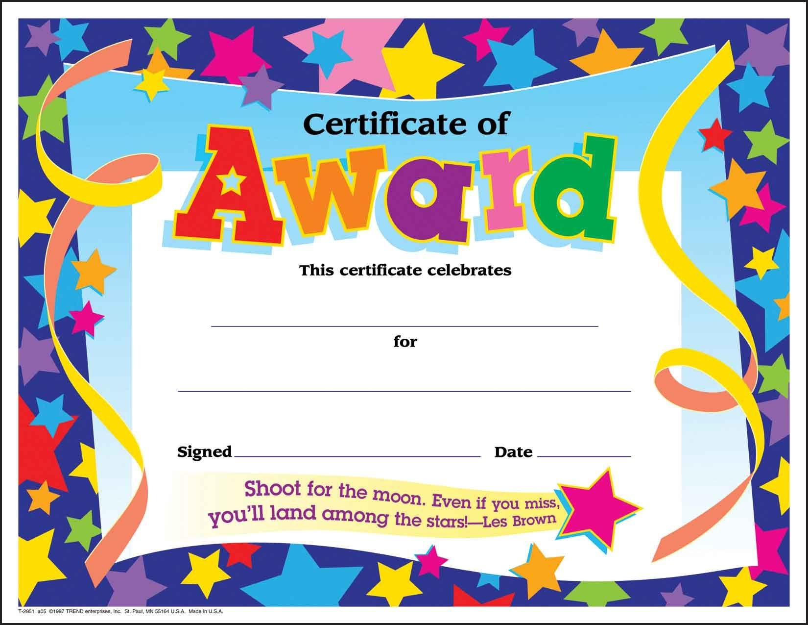 Certificate Template For Kids Free Certificate Templates - Free Printable Certificates And Awards