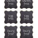 Chalkboard Buffet Food Labels {Free Printables} | Free Printables   Free Printable Food Tags For Buffet