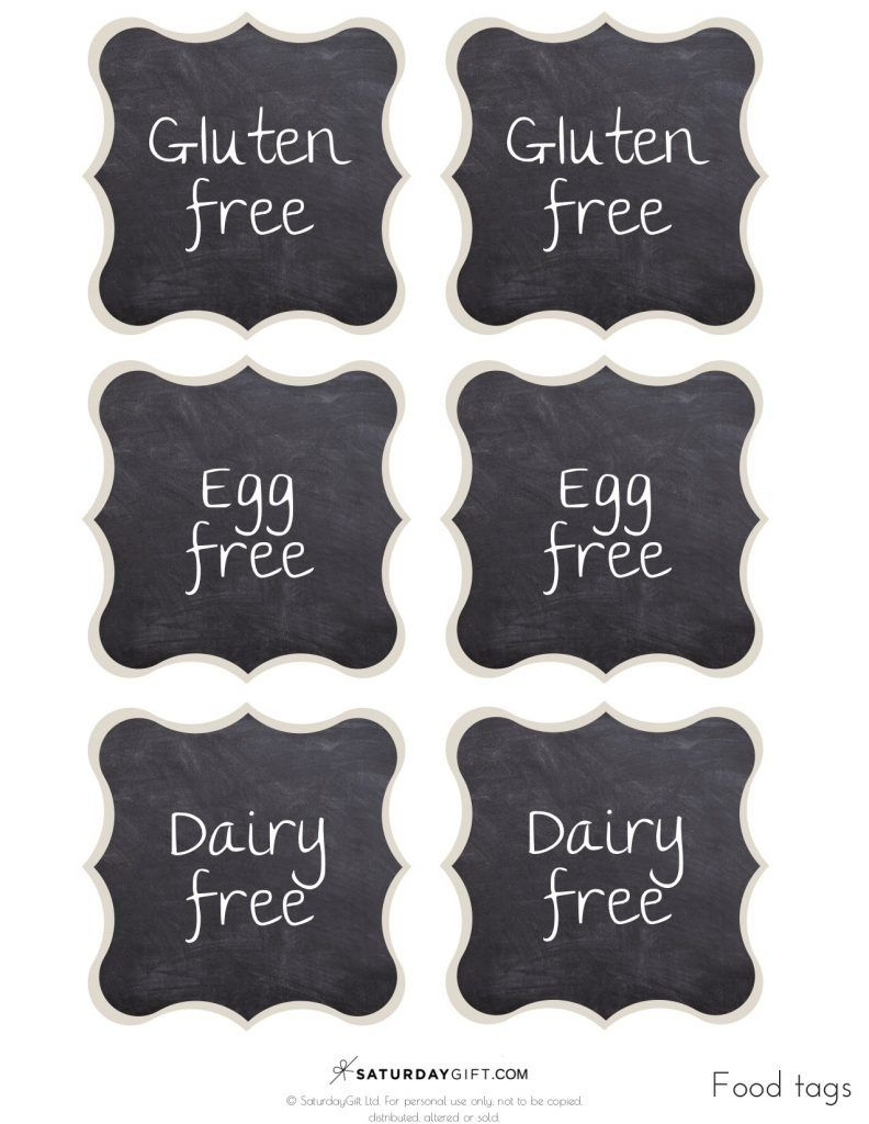 Chalkboard Buffet Food Labels {Free Printables} | Free Printables - Free Printable Food Tags For Buffet