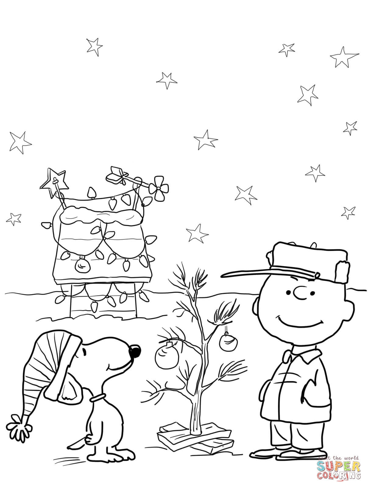 Charlie Brown Christmas Coloring Page | Free Printable Coloring Pages - Free Printable Christmas Cartoon Coloring Pages