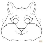 Chipmunk Mask Coloring Page | Free Printable Coloring Pages   Free Printable Chipmunk Mask