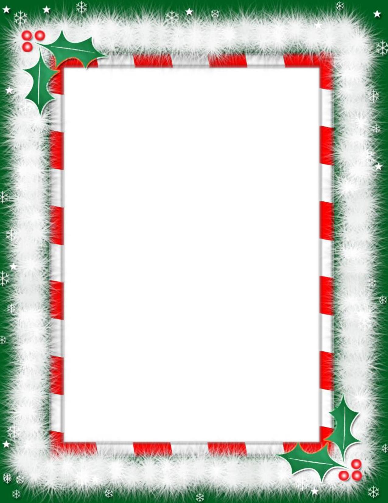 Free Printable Christmas Paper With Borders   Free Printable