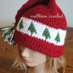 Christmas Cap Crochet Pattern Trees Go Round | Free Baby Crochet   Free Printable Santa Hat Patterns