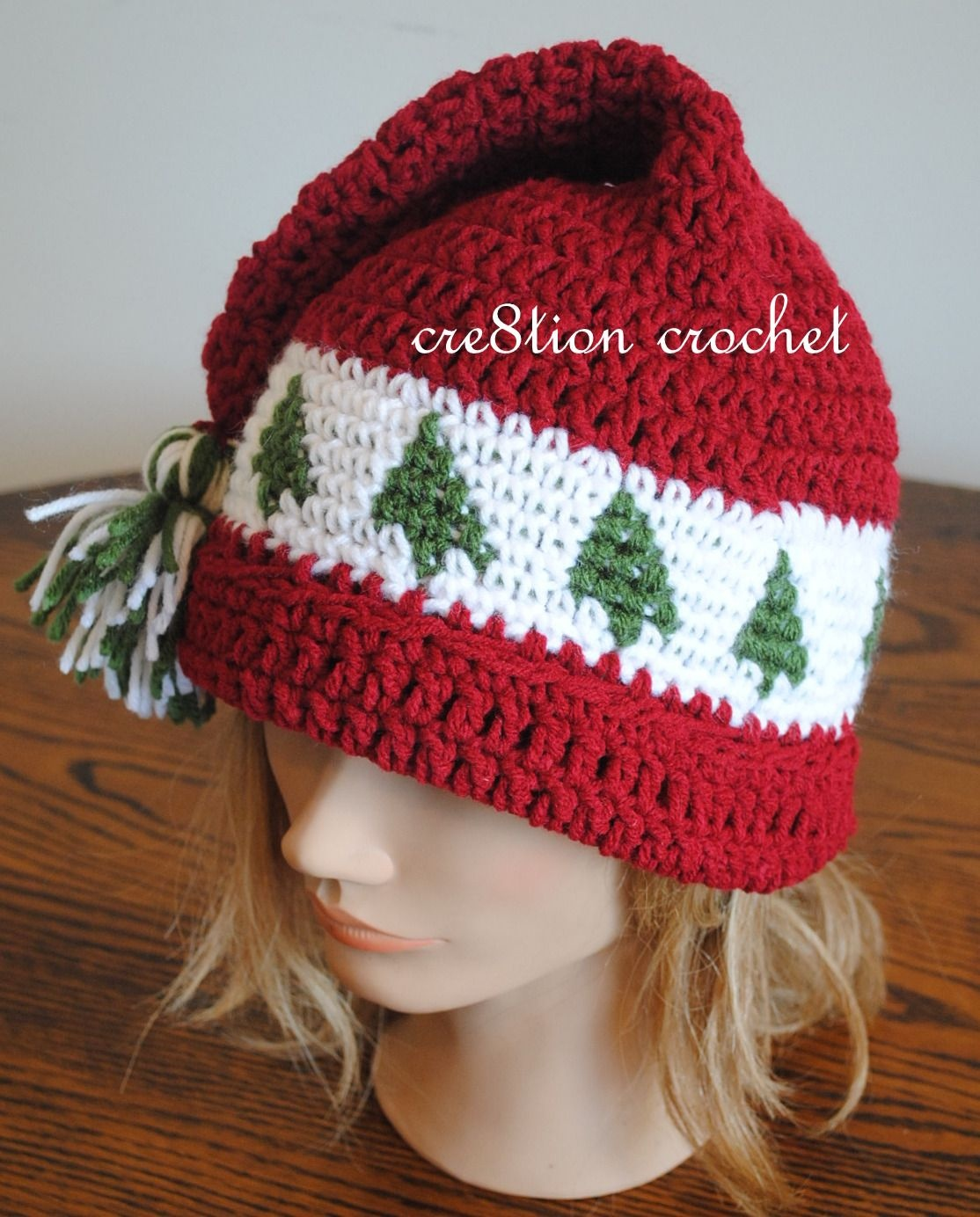 Christmas Cap Crochet Pattern Trees Go Round | Free Baby Crochet - Free Printable Santa Hat Patterns