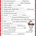 Christmas Carol Fill In The Blanks. Download This Puzzle For Free At   Christmas Song Scramble Free Printable