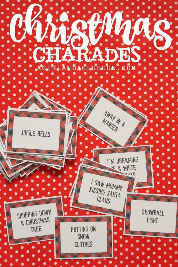Free Printable Christmas Pictionary Words