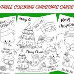 Christmas Coloring Cards   Free Printable Christmas Activity For Kids   Free Printable Christmas Pictures