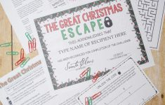 Christmas Escape Room (Activities, Trivia & Puzzle Games For – Free Printable Escape Room Game