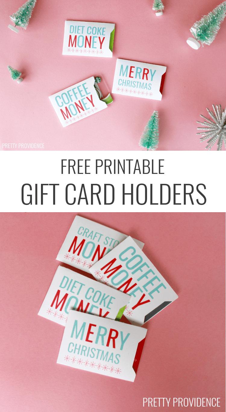 Christmas Gift Card Sleeves - Free Printable! - Free Printable Christmas Money Holders