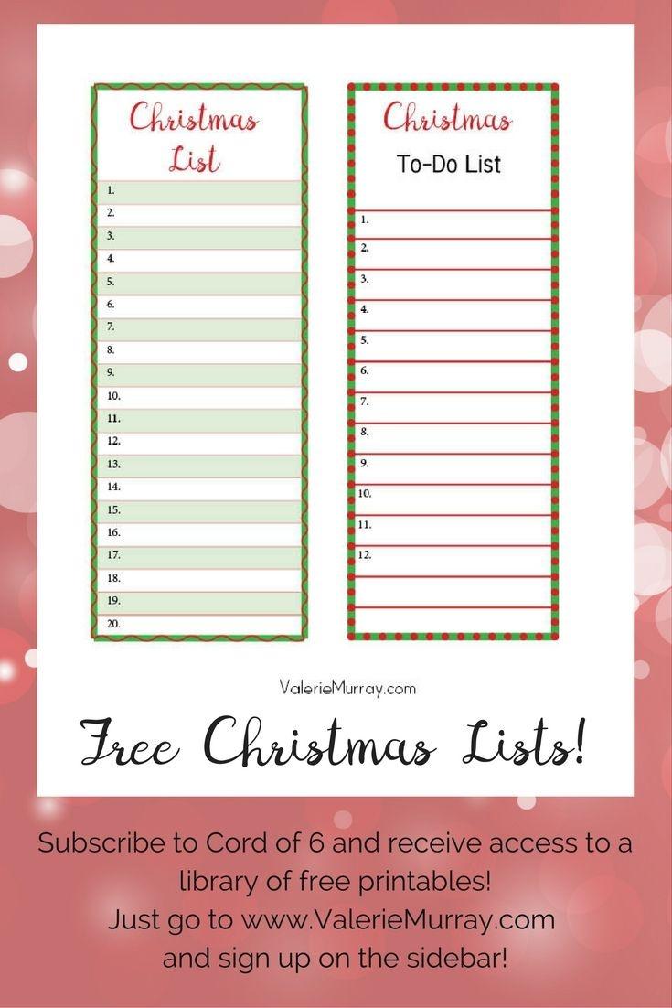 Christmas List Maker | Examples And Forms - Free Printable Christmas List Maker