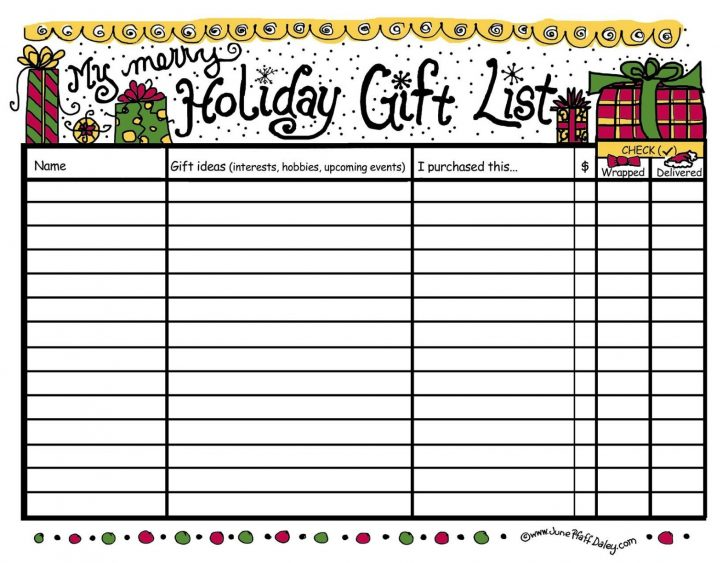 Free Printable Christmas List Maker