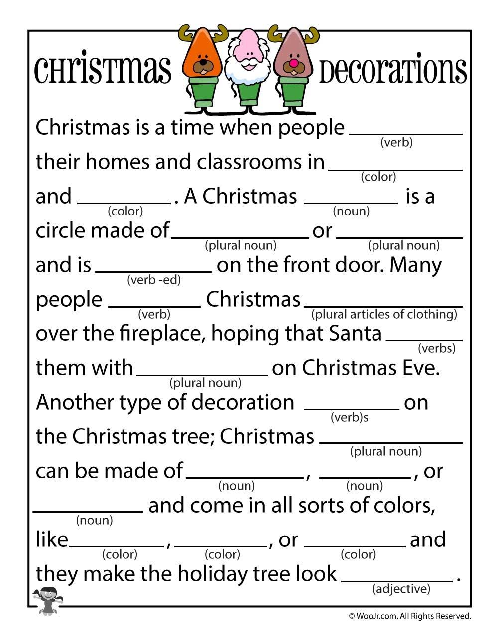 Christmas Mad Libs | Woo! Jr. Kids Activities - Christmas Mad Libs Printable Free