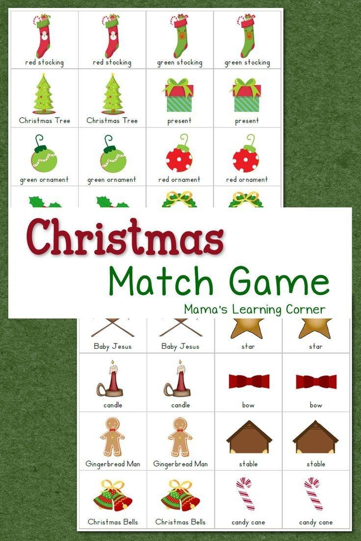 Christmas Match Game | Homeschooling | Preschool Christmas - Free Printable Christmas Games For Preschoolers
