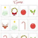 Christmas Matching Game: Free Printable | Free Printables | Matching   Free Printable Matching Cards