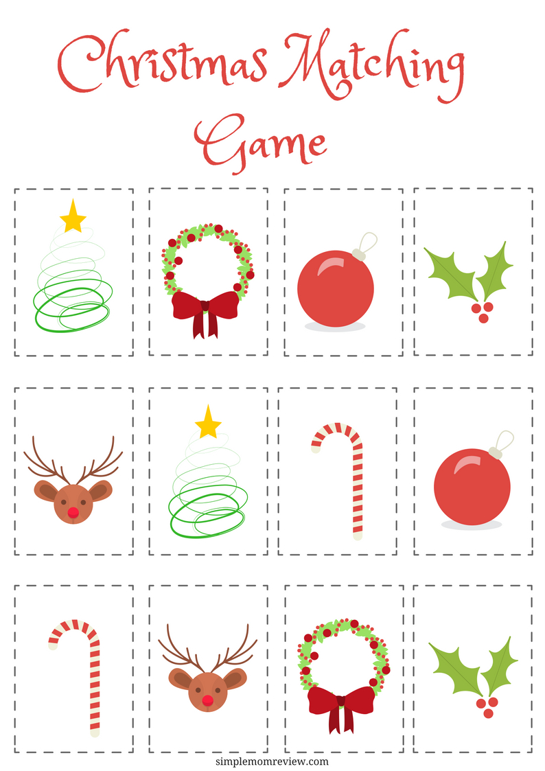 Christmas Matching Game: Free Printable | Free Printables | Matching - Free Printable Matching Cards