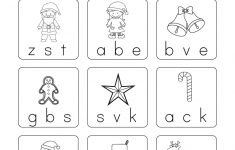 Christmas Phonics Worksheet – Free Kindergarten Holiday Worksheet – Phonics Pictures Printable Free