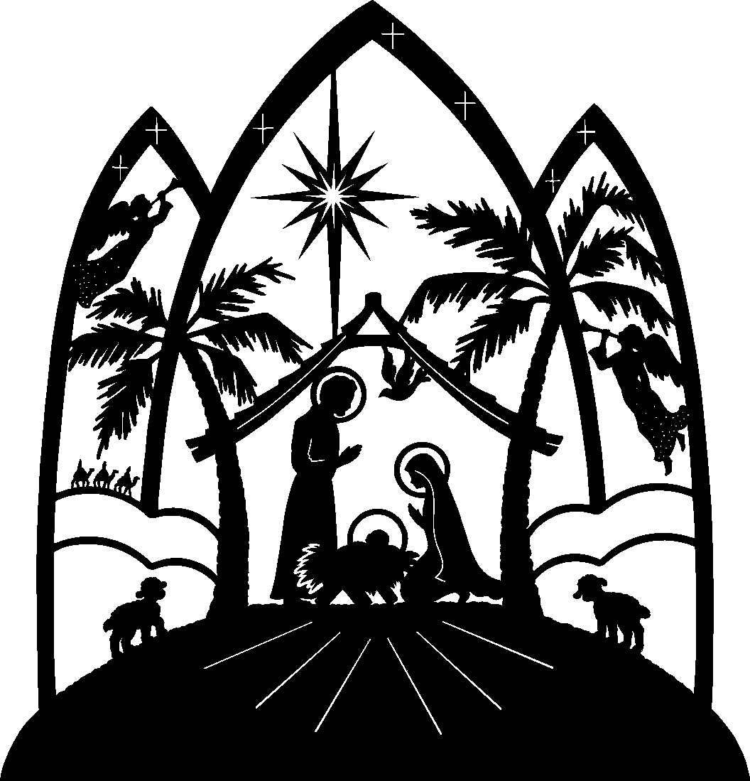 Christmas Religious Clip Art | Nativity Scene Clip Art Free - Free Printable Nativity Silhouette