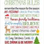 Christmas Rules Free Printable   Christmas Rules Sign   Free Printable Christmas Pictures