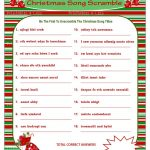 Christmas Scramble Christmas Song Game Printable Christmas | Etsy   Christmas Song Scramble Free Printable