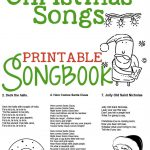 Christmas Songs For Kids – Free Printable Songbook! A Coloring Book   Christmas Song Lyrics Game Free Printable