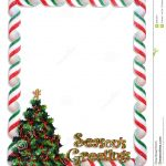 Christmas Tree Frame Border Stock Illustration   Illustration Of   Free Printable Christmas Frames And Borders