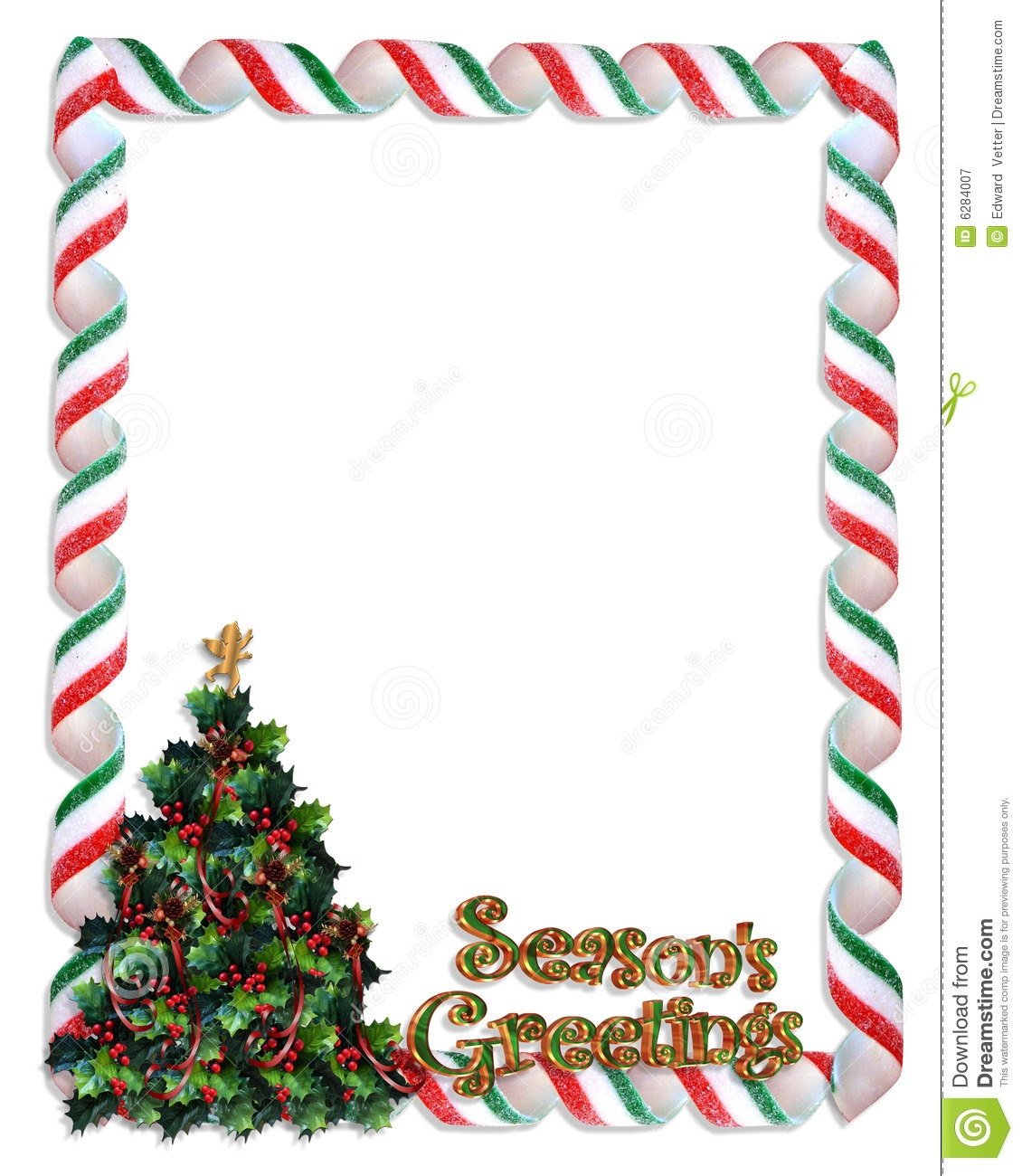 Christmas Tree Frame Border Stock Illustration - Illustration Of - Free Printable Christmas Frames And Borders
