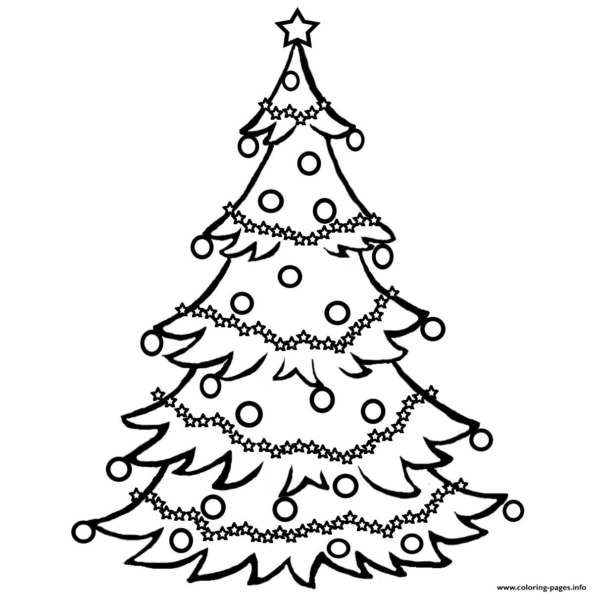 Christmas Tree Free0Ff6 Coloring Pages Printable - Free Printable Christmas Tree Images