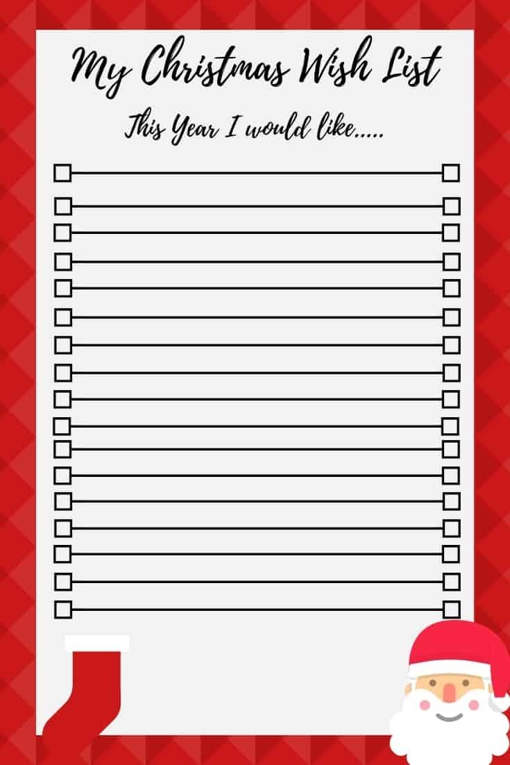 Christmas Wish List Free Printable - Free Printable Christmas Wish List