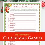 Christmas Word Scramble (Free Printable)   Flanders Family Homelife   Christmas Song Scramble Free Printable
