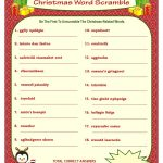 Christmas Word Scramble Printable Christmas Game Diy | Etsy   Christmas Song Scramble Free Printable
