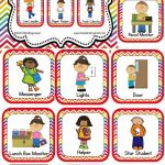 Classroom Helper And Job Cards Rainbow Chevron   Kinderland   Free Printable Classroom Helper Signs