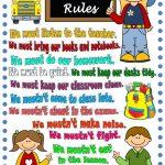 Classroom Rules   Poster Worksheet   Free Esl Printable Worksheets   Free Printable Classroom Rules Worksheets